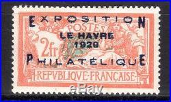 120717. N°257a. Le Havre. Centrage Exceptionnel. Certificat Calves