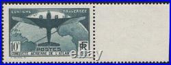 1936 FRANCE N°321 TTB Traversée de l'Atlantique Bord de feuille Cote 800 MNH
