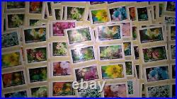 200 timbres lettre verte permanente sous faciale série flore eclosion 2019