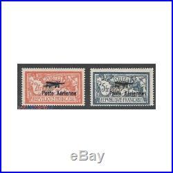 2 TIMBRES POSTE AERIENNE N°1 ET N°2 1927 NEUF Signés Calvès Côte 950 Eur