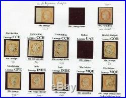 40c Ceres Colonies Generales Lot D'obliterations + 2 Timbres Neufs