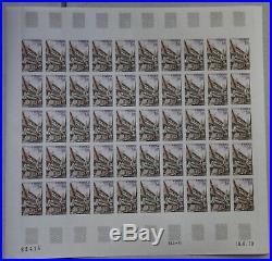 5 Planches De 50 Timbres Non Denteles Neufs 1979 Serie Touristique N°2040 A 2044