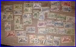 88 Timbres Petain colonies oeuvres coloniales surcharges innini Kouang tcheou