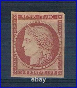 A0598 TIMBRE DE FRANCE N° 6 Neuf sans gomme Cote 5250