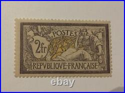 A9-France n°122 type Merson 2F violet et jaune neuf sans charnière
