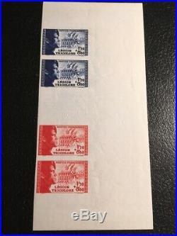 AVO! 1107 FRANCE non dentelé imperf bande 565/566 légion tricolore signée