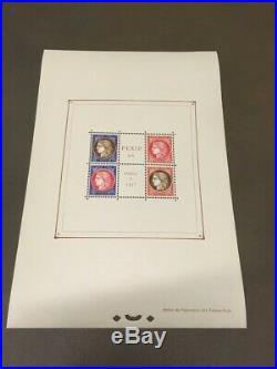AVO! 1375 FRANCE bloc feuillet exposition Paris 1937 PEXIP BF 3 sheet TB