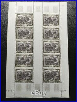 AVO! 1385 FRANCE poste aérienne PA 29 feuille 10 timbres airmail coin daté
