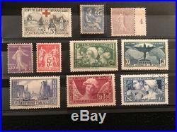 AVO! 1408 FRANCE lot timbres bonnes valeurs & O mouchon semeuse 216 321 CA