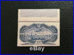 AVO! 1471 FRANCE timbre aviation burelé PA 15 Paris banknote airmail MNH