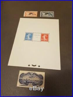 AVO! 1503 FRANCE lot timbres dt bloc BF n°2 PA 1/2 et burelé PA 15