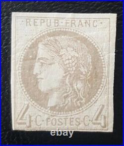 À NE PAS MANQUER 3 Émission Bordeaux timbre 41A report 1 certificat 4.500