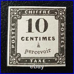 À NE PAS MANQUER 4 FRANCE timbre taxe 1 lithographié neuf certificat 7.500 R