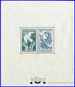 À VOS OFFRES! 312 bloc spécial timbres 761/762 Decaris Conférence Paris