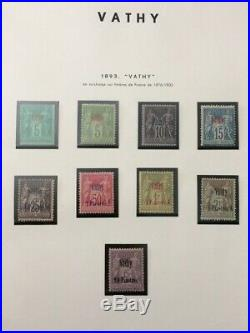 À VOS OFFRES! 740 COLONIE FRANÇAISES double collection timbres Vathy TB