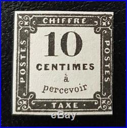 À VOS OFFRES! 8 FRANCE timbre taxe n°1 lithographié neuf certificat Calves R
