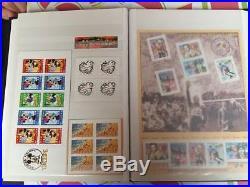 Album complet de timbres en euro avec labum