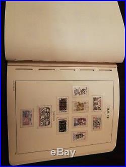 Album timbres france neufs complet 1980/1990 avec preo et services