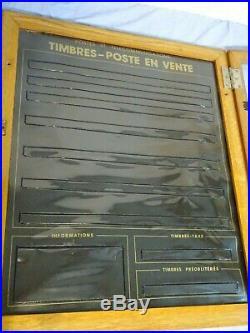 Ancienne vitrine de timbre la poste en vente Philatélie