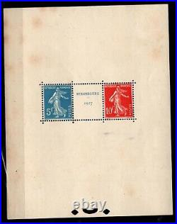 BLOC STRASBOURG de 1927, Neuf = Cote 1.350 / Lot Timbres France BLOC n°2