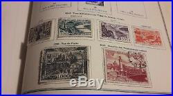 Belle collection de timbres Français anciens neufs et oblitérés avec 4 albums