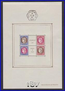 Bloc Feuillet n°3b neuf, PEXIP 1937, oblitération hors timbres, TTB