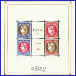 Bloc N°3 Pexip Paris Timbres Neufs 1937