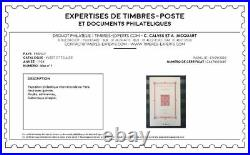 Bloc Timbre YT BF 1 France 1925 neuf Signé Calves. Exposition Paris 1925