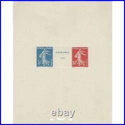 Bloc-feuillet de timbres de France N°2 Strasbourg 1927 neuf SUP