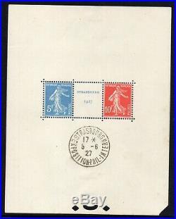 Bloc-feuillet n°2 N Exposition philatélique de Strasbourg (cote 1350)
