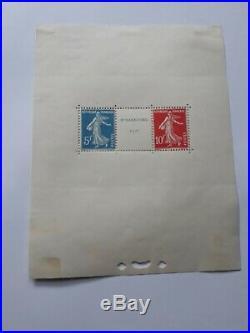 Bloc timbres N°2 Strasbourg 1927 Neuf (trace de charnière, voir scan)