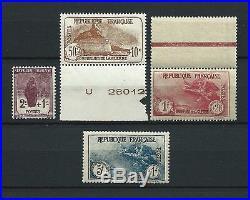 CAISSE D' AMORTISSEMENT 1926-27 YT 229 à 232 TIMBRES NEUFS MNH