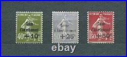 CAISSE D' AMORTISSEMENT 1931 YT 275 à 277 TIMBRES NEUFS MNH