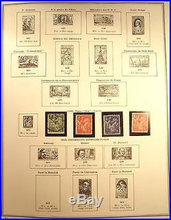 COLLECTION TIMBRES FRANCE 1849 à 1971 ALBUM CERES