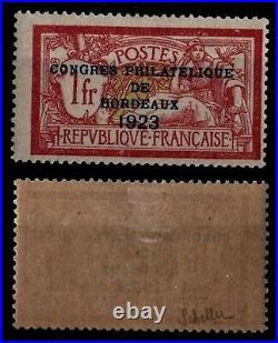 CONGRES Philatélique BORDEAUX 23 Signé, Neuf = Cote 575 / Timbre France 182