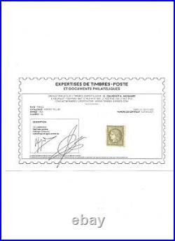 Ceres N° 1 neuf avec gomme Bistre brun Signé avec certificat Calves