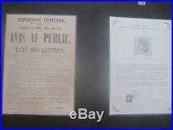 Coffret 170 ans du premier timbre (Cérès 1849)+ variété bord droit 10e colonne