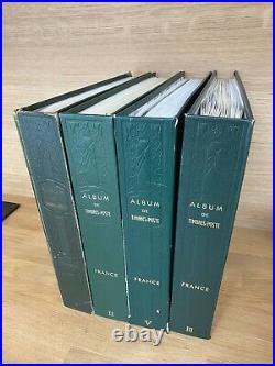 Collection timbres France 4 albums 1876-2003 dt 182,262,321, caisses, variétés++++
