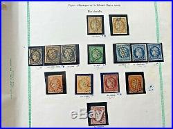 Collection timbres classiques n°1 à 106 dt bonnes valeurs, variétés, oblits +++