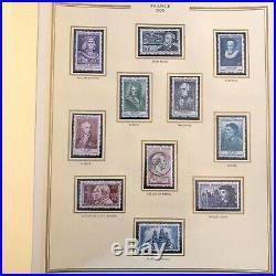Collection timbres de France 1940 à 1991 complet Neufs dans reliure Présidence