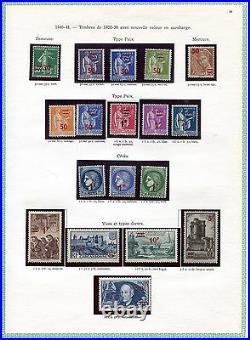 Collection timbres de France très avancée 1931 à 1973 cote + de 4000