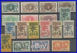 Colonies Françaises SENEGAL Série PALMIERS N°30 à 46 Neuf TTB H2243