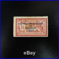 Congrès Philatélique De Bordeaux De 1923 N°182 Neuf Sans Gomme Cote 575