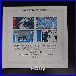 Épreuve De Luxe Timbre Non Dentelé Imperf Bloc Feuillet N°7 N°1834/1837 1975