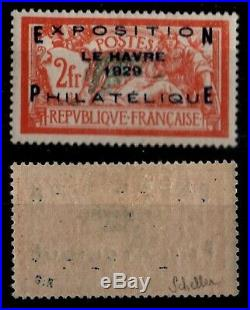 Expo LE HAVRE 1929 Signé, Neuf = Cote 875 / Lot Timbre France n°257A