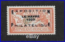 Exposition Philatélique du Havre, N° 257A, très bon centrage, signé