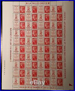 FEUILLE SHEET MARIANNE SALON DU TIMBRE N°4459/4472 x40 2010 NEUF LUXE MNH