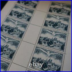 FEUILLE SHEET POSTE AÉRIENNE PA N°20 x10 PONTS DE PARIS 1947 NEUF LUXE MNH