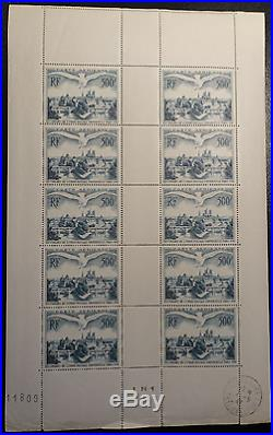 FEUILLE SHEET TIMBRE POSTE AÉRIENNE PA N°20 x10 1947 NEUF LUXE MNH