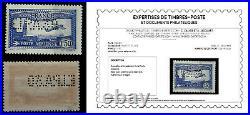 FRANCE1930 NEUF PA N°6cAVION SURVOLANT MARSEILLE PERF EIPA SIGNE+CERT CALVES